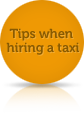 Tips when hiring a taxi